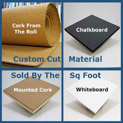Wallboard Material; Chalkboard, Cork, Whiteboard - Cut To Your Size - Sold By The Square Foot