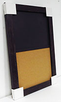 WSCB-258 Distressed Rich Black Combinatin Board 24 x 36 1/2 Magnetic Chalk 1/2 Natural Self Healing Cork
