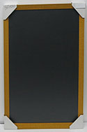 WSCK-231 Yellow Distressed 24 x 36 Traditional Chalkboard