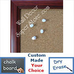 BB115-2 Cherry Small To Medium Custom Cork Chalk or Dry Erase Board