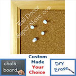 BB115-3 Natural Small To Medium Custom Cork Chalk or Dry Erase Board