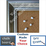 BB124-1 Crushed Silver Medium To Extra Large Custom Cork Chalk Or Dry Erase Board