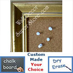 BB124-2 Crushed Gold Medium To Extra Large Custom Cork Chalk Or Dry Erase Board