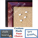 BB154-1 Distressed Cherry Pine With Boarder Custom Cork Chalk or Dry Erase Board Medium To Large