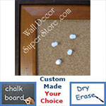 BB154-3 Distressed Pecan With Dark Boarder Custom Cork Chalk or Dry Erase Board Medium To Large