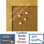 BB157-1 Natural Small To Medium Custom Cork Chalk or Dry Erase Board
