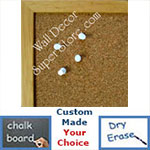 BB159-1 Distressed Natural Small Custom Cork Chalk or Dry Erase Board