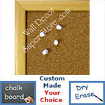 BB162-1 Clear Natural Small Custom Cork Chalk or Dry Erase Board