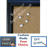 BB182-1 Black With Slope Edge Small To Medium Custom Cork Chalk or Dry Erase Board