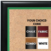 BB1400-2 Black With Green Lip Small To Medium Custom Cork Chalk or Dry Erase Board