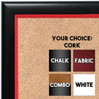 BB1400-3 Black With Red Lip Small To Medium Custom Cork Chalk or Dry Erase Board