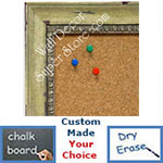 BB1402-4 Distressed  Spring Green Custom Cork Chalk or Dry Erase Board Medium To Large