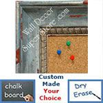 BB1403-5 Distressed  Bluebell Medium To Extra Large Custom Cork Chalk Or Dry Erase Board