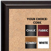 BB1409-2 Expresso Coffee  Brown Small To Medium Custom Cork Chalk or Dry Erase Board