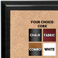 BB1409-3 Rich Gray Small To Medium Custom Cork Chalk or Dry Erase Board