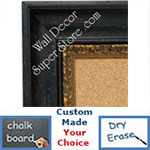 BB1415-3 Aged Look Distressed Black Scoop Medium To Extra Large Custom Cork Chalk Or Dry Erase Board