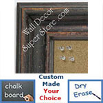 BB1419-1 Distressed Brown Medium To Extra Large Custom Cork Chalk Or Dry Erase Board