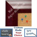 BB1420-4 Classic Mahogany  Medium To Extra Large Custom Cork Chalk Or Dry Erase Board