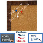 BB1430-1 Brown Small Custom Cork Chalk or Dry Erase Board