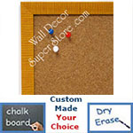 BB1430-2 Yellow Small Custom Cork Chalk or Dry Erase Board