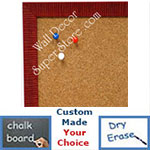 BB1430-3 Red Small Custom Cork Chalk or Dry Erase Board
