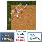 BB1430-4 Green Small Custom Cork Chalk or Dry Erase Board