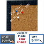 BB1430-6 Blue Small Custom Cork Chalk or Dry Erase Board