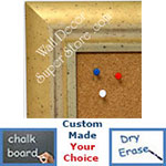 BB1477-2 Distressed Champagne Gold With Pale Silver  Medium To Extra Large Custom Cork Chalk Or Dry Erase Board
