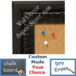 BB1478-1 Dark Metallic Pewter Look With Ebony Medium To Extra Large Custom Cork Chalk Or Dry Erase Board
