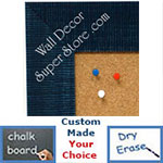 BB1484-6 Blue Medium To Extra Large Custom Cork Chalk Or Dry Erase Board
