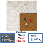 BB1484-7 White Medium To Extra Large Custom Cork Chalk Or Dry Erase Board