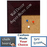 BB1484-8 Burgundy Medium To Extra Large Custom Cork Chalk Or Dry Erase Board