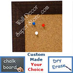 BB1485-1 Brown Custom Cork Chalk or Dry Erase Board Medium To Large