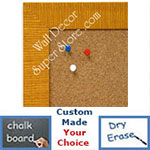 BB1485-2 Yellow Custom Cork Chalk or Dry Erase Board Medium To Large