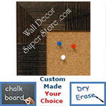 BB1487-1 Walnut  Woven Bamboo Medium To Extra Large Custom Cork Chalk Or Dry Erase Board