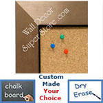 BB1494-3 Brushed Bronze With Black Medium To Extra Large Custom Cork Chalk Or Dry Erase Board