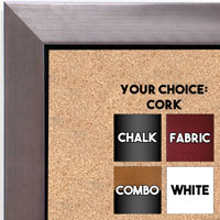 BB1495-4 Brushed Pewter With Black Small To Medium Custom Cork Chalk or Dry Erase Board