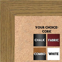 BB1501-1 True Oak Large Custom Wall Boards Chalk Cork Dry Erase