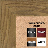 BB1501-2 True Oak Large Custom Wall Boards Chalk Cork Dry Erase
