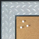 BB1503-1 Stainless Steel Look with Diamond Pattern Medium To Extra Large Custom Cork Chalk Or Dry Er