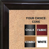 BB1507-1 Espresso Coffee Brown Medium Wall Board Cork Chalk Dry Erase