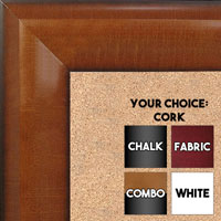 BB1508-2 Pecan Extra Large Wall Board Cork Chalk Dry Erase