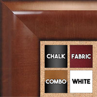 BB1509-2 Pecan Extra Extra Large Wall Board Cork Chalk Dry Erase