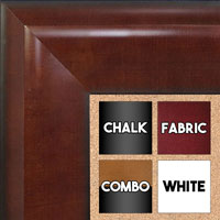 BB1509-3 Walnut Extra Extra Large Wall Board Cork Chalk Dry Erase