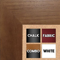 BB1510-2 Walnut Wood Grain Large Custom Wall Boards Chalk Cork Dry Erase