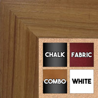 BB1510-4 Oak Wood Grain Large Custom Wall Boards Chalk Cork Dry Erase