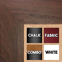 BB1510-5 Dark Walnut Wood Grain Large Custom Wall Boards Chalk Cork Dry Erase