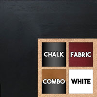 BB1510-6 Black Wood Grain Large Custom Wall Boards Chalk Cork Dry Erase