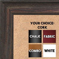 BB1512-3 Walnut Distressed Barnwood - Large Wall Board Cork Chalk Dry Erase