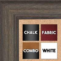 BB1513-2 Gray Distressed Barnwood - Extra Large Wall Board Cork Chalk Dry Erase
